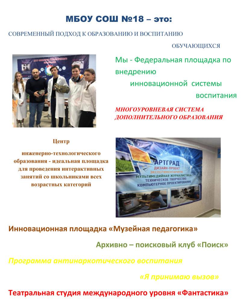 БРЕНДИРОВАНИЕ СОШ 18-2