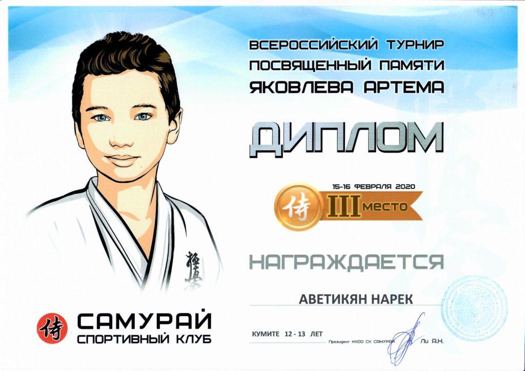 спорт.каратэА.ветикян Нарек.